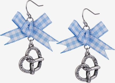 Six Ohrringe in blau / silber, Produktansicht