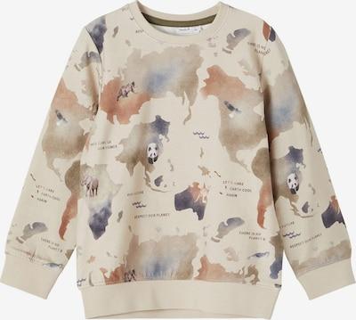 NAME IT Sportisks džemperis 'Bamap' cementpelēks / kamuflāžas / brūns / melns, Preces skats
