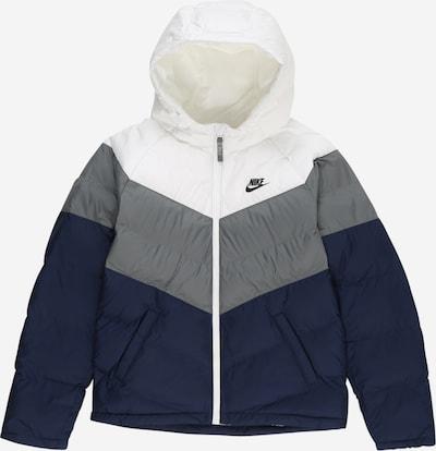 Žieminė striukė iš Nike Sportswear , spalva - mėlyna / pilka / balta, Prekių apžvalga