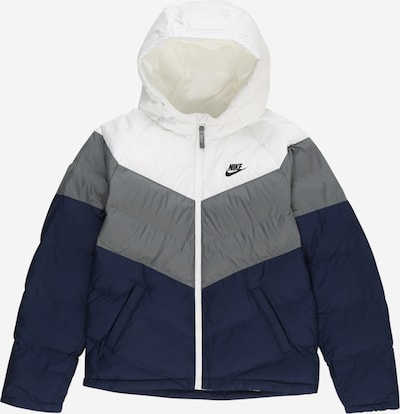 Nike Sportswear Jacke in blau / grau / weiß, Produktansicht