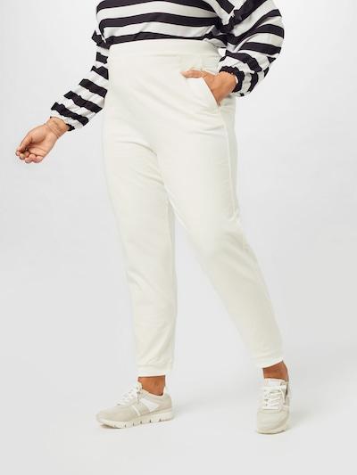 Guido Maria Kretschmer Curvy Collection Broek 'Sila' in de kleur Wit, Modelweergave