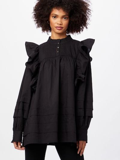 Part Two Bluse 'Keera' in schwarz, Modelansicht