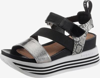 bugatti Sandale in grau / schwarz / silber, Produktansicht