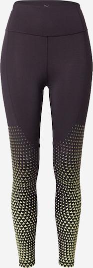 PUMA Spodnie sportowe w kolorze żółty / czarny / białym, Podgląd produktu