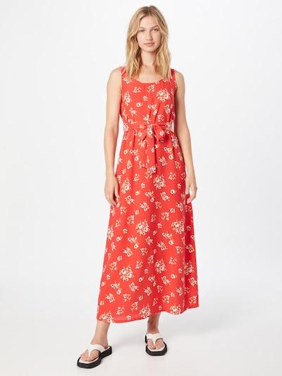 DeFacto Kleid in creme / oliv / puder / hellrot, Modelansicht