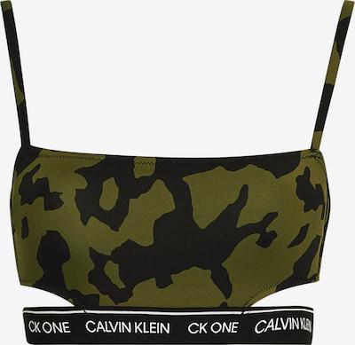 Calvin Klein Swimwear Bikinitop in de kleur Kaki / Zwart / Wit, Productweergave