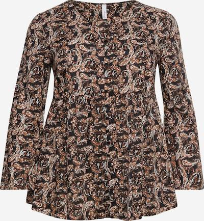 SHEEGO Blusa en beige / marrón / naranja oscuro / negro, Vista del producto