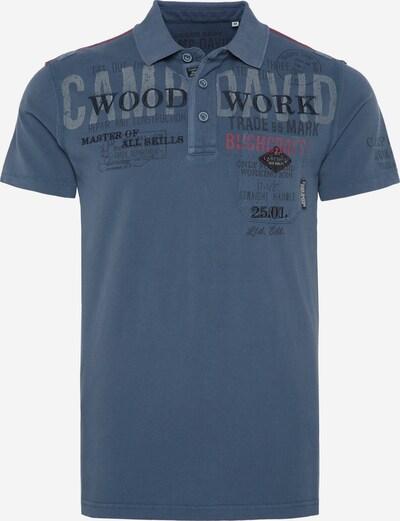 CAMP DAVID Poloshirt in rauchblau / dunkelblau / grau / rot, Produktansicht