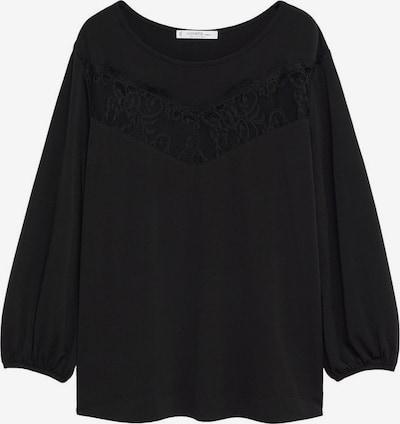 Tricou 'Relace' VIOLETA by Mango pe negru, Vizualizare produs