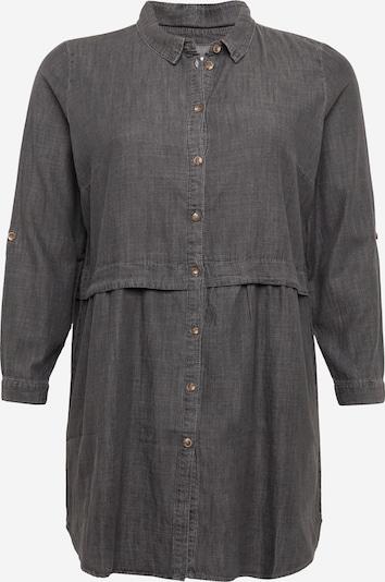 ONLY Carmakoma Robe-chemise 'Claire' en gris denim, Vue avec produit