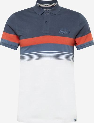 BLEND Poloshirt in navy / orangerot / weiß, Produktansicht