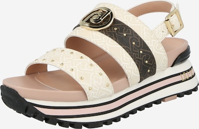 Liu Jo Páskové sandály - béžová / hnědá / tmavě hnědá / bílá, Produkt