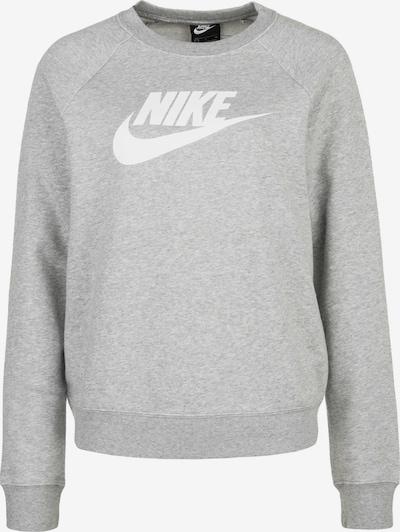 Nike Sportswear Sweat-shirt 'Essential' en gris / blanc, Vue avec produit