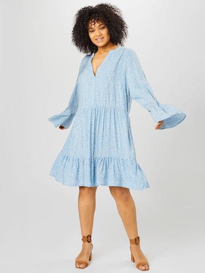 ONLY Carmakoma Kleid 'Lolli' in hellblau / weiß, Modelansicht