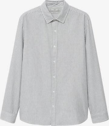 MANGO MAN Button Up Shirt 'Kodak' in Grey