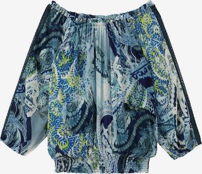Desigual Блуза 'SHEILA' в бежово / небесносиньо / светлосиньо / тъмносиньо / тръстиково зелено, Преглед на продукта