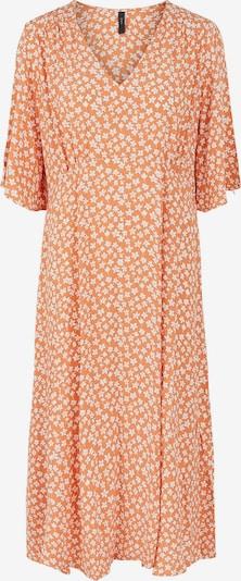 Y.A.S Kleid 'Lura' in cognac / weiß, Produktansicht