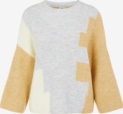 OBJECT Pullover 'OBJALIZEE' in gelb / hellgrau, Produktansicht