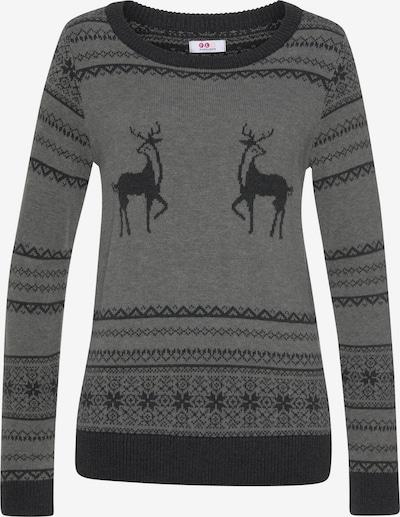FLASHLIGHTS Pullover in dunkelgrau / graumeliert, Produktansicht