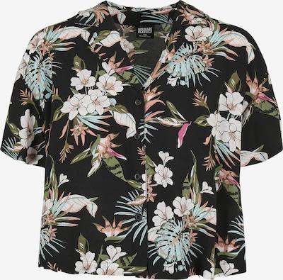 Urban Classics Blus i brun / grön / rosa / svart / vit, Produktvy