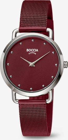 Boccia Titanium Analog Watch in Wine red / Silver, Item view