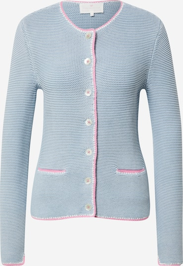 LIEBLINGSSTÜCK Knitted costume cardigan in Light blue / Pink, Item view