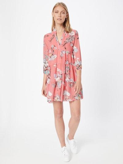 ZABAIONE Kleid 'Rina' in opal / gelb / tanne / lachs / weiß, Modelansicht