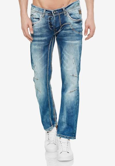 Rusty Neal Jeanshose in blau, Modelansicht