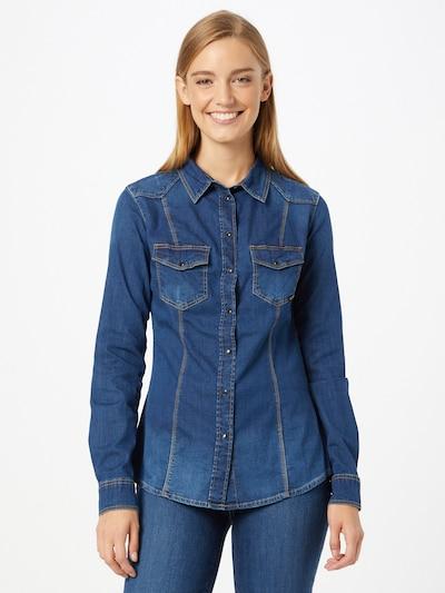 Bluză 'LALIMA' GUESS pe albastru denim, Vizualizare model