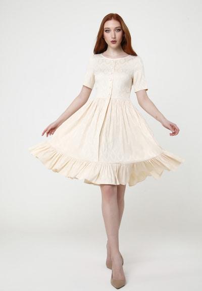 Madam-T Sommerkleid 'CHIARA' in beige, Modelansicht