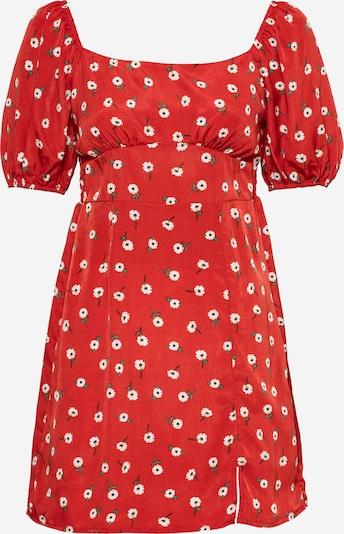 Vasarinė suknelė iš Missguided , spalva - žalia / raudona / balta, Prekių apžvalga