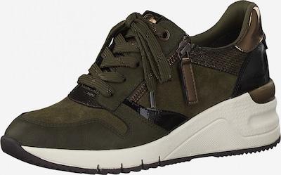 Sneaker low TAMARIS pe bronz / kaki / negru, Vizualizare produs