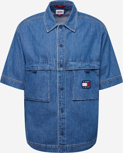 Tommy Jeans Skjorte i marin / blue denim / rød / hvid, Produktvisning