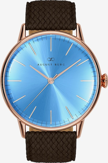 August Berg Uhr 'Serenity Sky Blue Dark Brown Perlon 40mm' in blau, Produktansicht