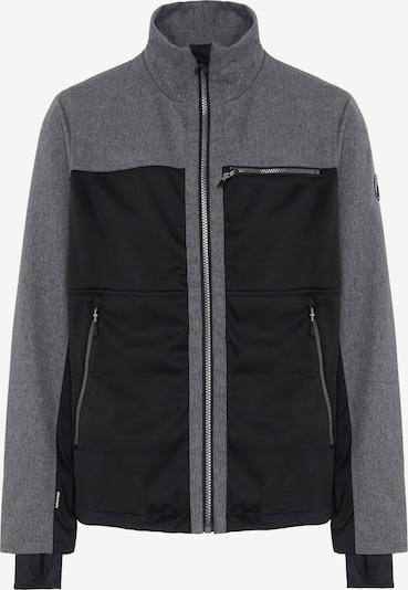 CHIEMSEE Outdoorjas 'LATSGA' in de kleur Grijs gemêleerd / Zwart, Productweergave