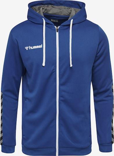 Hummel Sportsweatvest in de kleur Blauw / Grijs / Zwart, Productweergave
