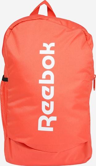 REEBOK Športni nahrbtnik | oranžna / bela barva, Prikaz izdelka