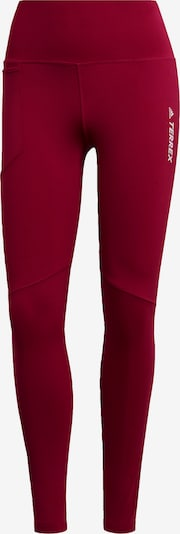 ADIDAS PERFORMANCE Leggings ' TERREX ' in weinrot, Produktansicht