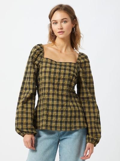 modström Shirt  'Truly' in khaki / schwarz, Modelansicht