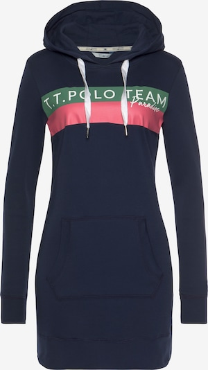 Tom Tailor Polo Team Sweatshirt in Navy / Mint / Pink / White, Item view