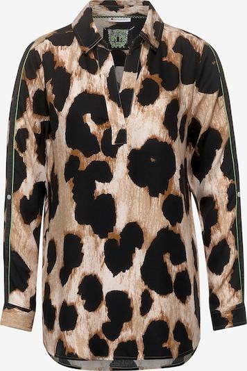 STREET ONE Bluse in beige / braun / schwarz, Produktansicht