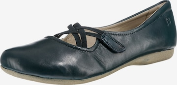 JOSEF SEIBEL Ballet Flats with Strap 'Fiona 39' in Blue