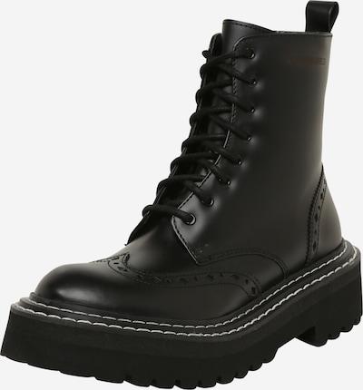 Karl Lagerfeld Bottines à lacets 'PATROL' en noir, Vue avec produit