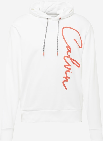 Felpa Calvin Klein di colore rosso arancione / bianco, Visualizzazione prodotti