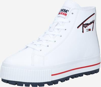 Ghete cu șireturi Tommy Jeans pe marine / roșu / alb, Vizualizare produs