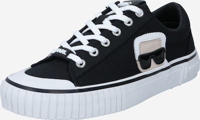 Karl Lagerfeld Zemie brīvā laika apavi 'KAMPUS II' bēšs / melns / balts, Preces skats