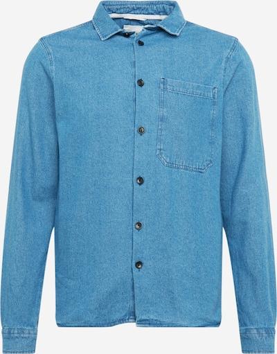 anerkjendt Overhemd in de kleur Blauw denim, Productweergave