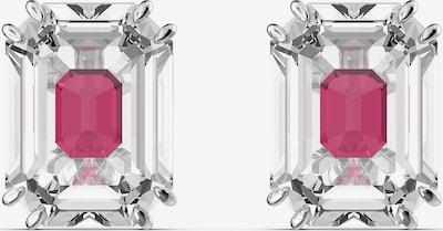 Cercei 'Chroma' Swarovski pe roz deschis / argintiu, Vizualizare produs