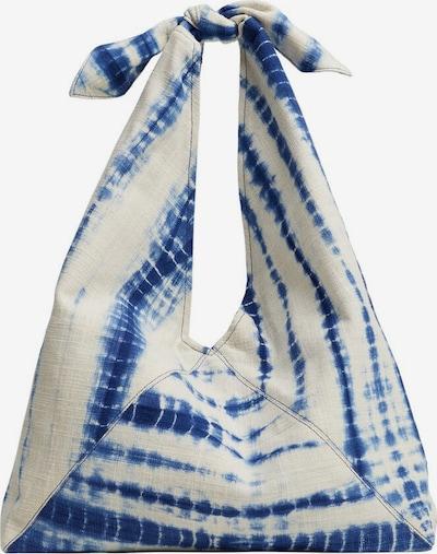 MANGO Schultertasche in blau / weiß, Produktansicht