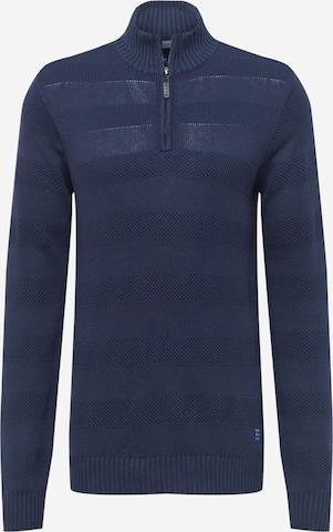 BLEND Pullover 'Nantes' in Blau